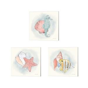 Sara Zieve Miller 'Sea Life' Canvas Art (Set of 3)