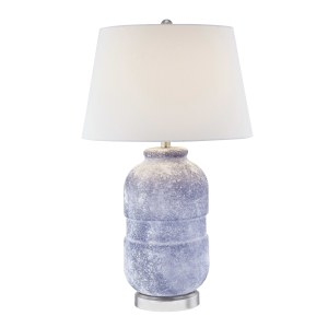 Glass Jug Table Lamp, Navy Blue, 30""