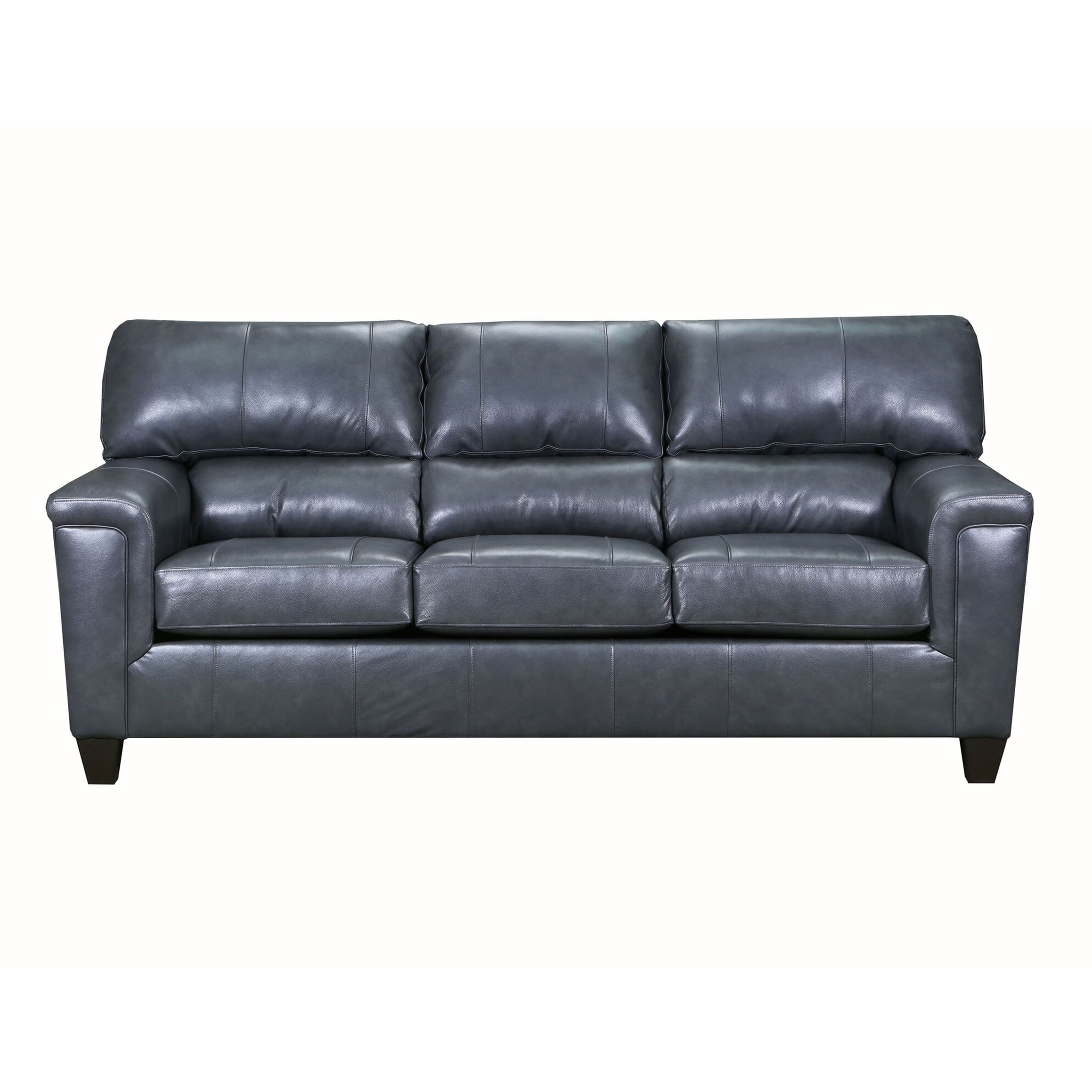 David Top Grain Leather Queen Sleeper Sofa