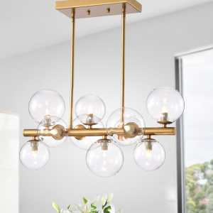 Darden Gold 10-Light Pendant with Clear Glass Shade (bulbs included)
