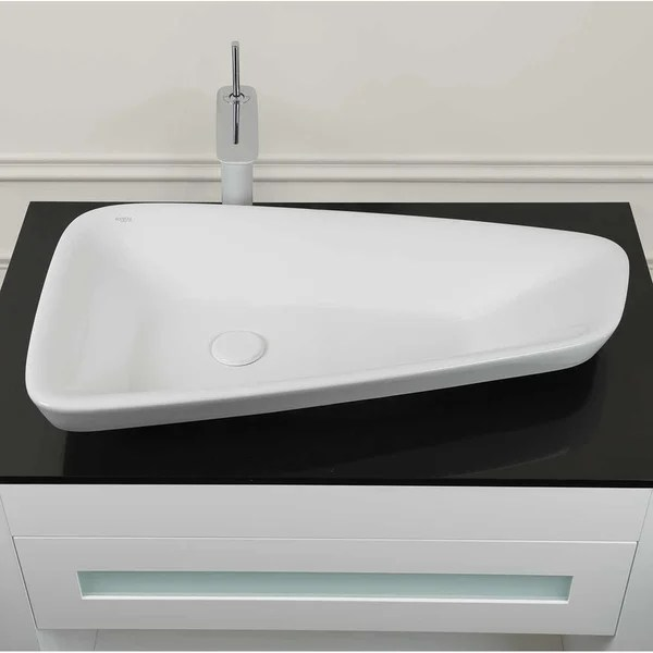 30 rein ceramic drop in vessel sink without overflow in white 30 12 x 17 13