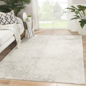 Juniper Home Lise Damask Grey/Ivory Area Rug (10' x 14')
