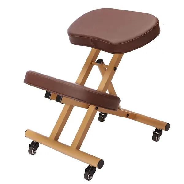 ergonomic chair kneeling posture white tufted high back shop modern home rolling free