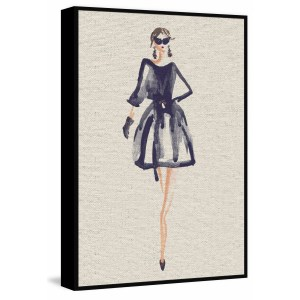 'Fashion Icon' Floater Framed Painting Print on Canvas - Multi-color