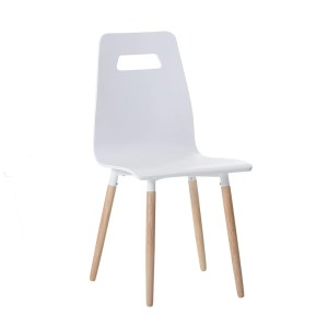 Bovio White Wood Dining Room, Living Room Chair