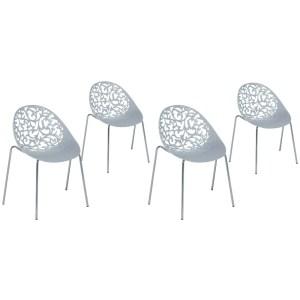 Set of 4 Dining Chairs Gray MUMFORD