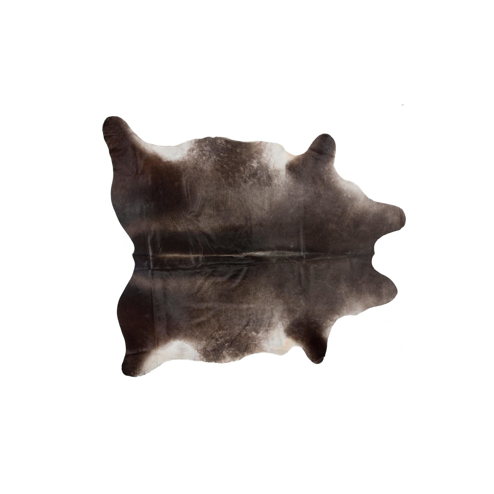 Kobe Cowhide Rug 6x7 White Brown 6 X 7