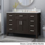 Greeley Contemporary 48 Wood Single Sink Bathroom Vanity With Carrera Marble Top By Christopher Knight Home Overstock 25716175