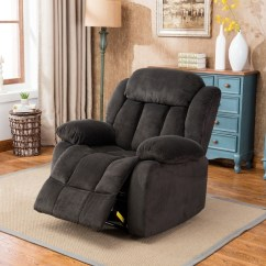 Living Room Lounge Chair Canada Set Of 2 Shop Oversized Recliner Microfiber Cover Dark Blue