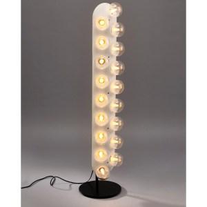 Ruby 18-light Matte White Floor Lamp