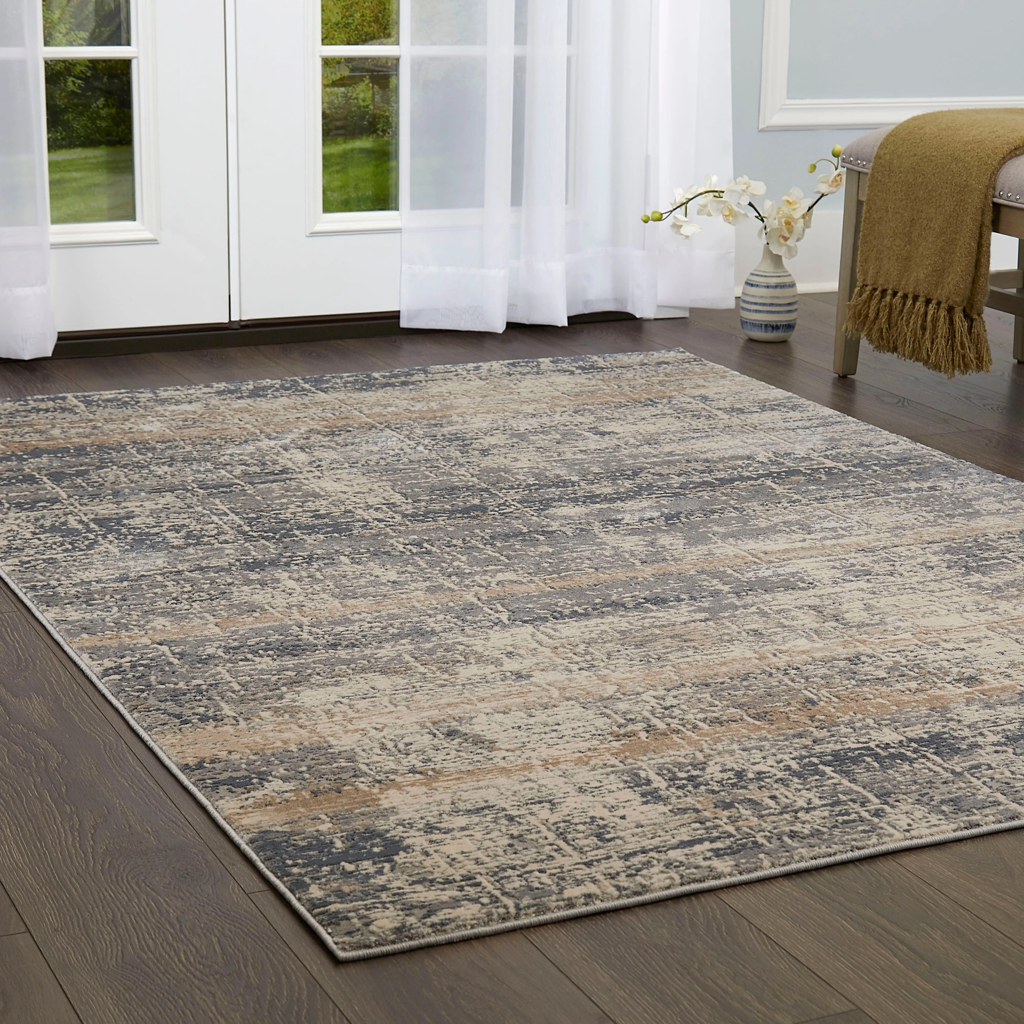 Nicole Miller Kenmare Distressed Marbled Area Rug