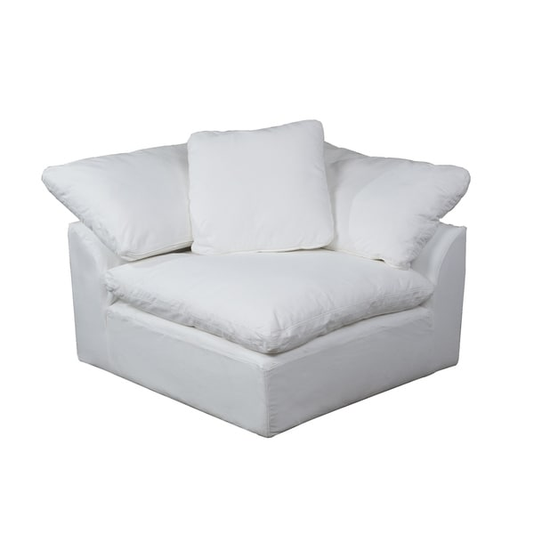 chair covers sofa buffalo leather shop sunset trading cloud puff sectional corner arm slipcover