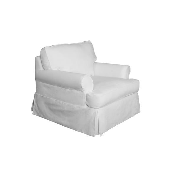white chair slipcover t cushion wooden glider canada shop sunset trading horizon performance fabric