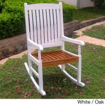 International Caravan Rocking Chair With Uv Paint Antiqued