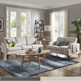 white sofa set living room modern style curtains buy sofas couches online at overstock com our best fenn square arm seating by inspire q