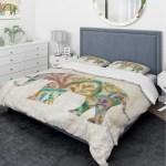 Designart Boho Paisley Elephant Ii Vii Traditional Bedding Set Duvet Cover Shams Multi Color Overstock 25971354