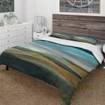 Designart Watercolor Desert Storm Abstract Blue Farmhouse Bedding Set Duvet Cover Shams Overstock 25971529