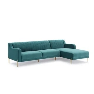 gold sectional sofa 8 piece modular buy sofas online at overstock com our best living divani casa flow modern teal velvet w right facing chaise