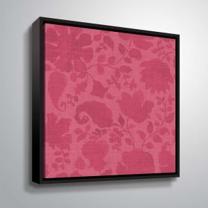 "ArtWall ""Pink Garden Step VIII"" Gallery Wrapped Floater-framed Canvas"