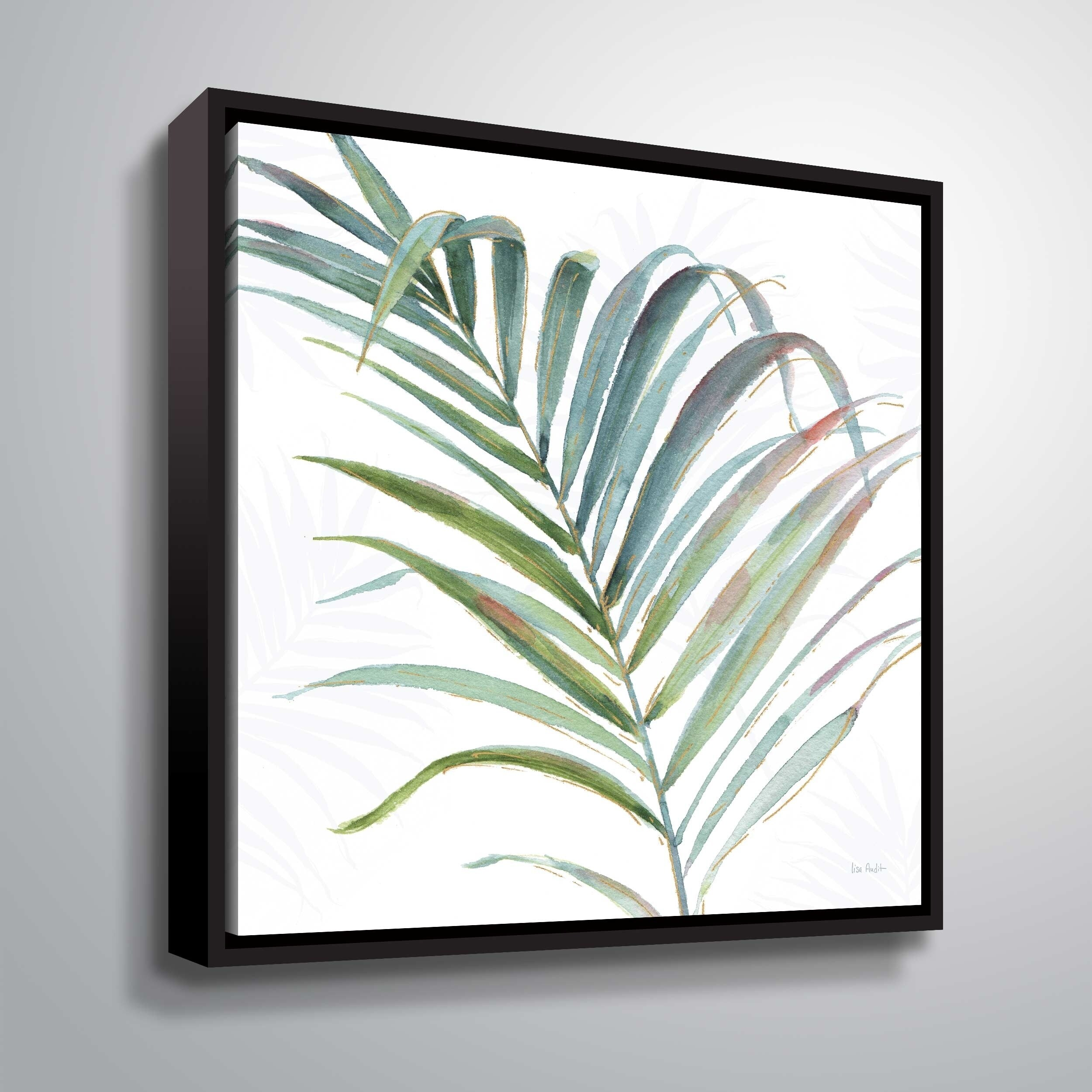"""ArtWall """"Tropical Blush V"""" Gallery Wrapped Floater-framed Canvas"""