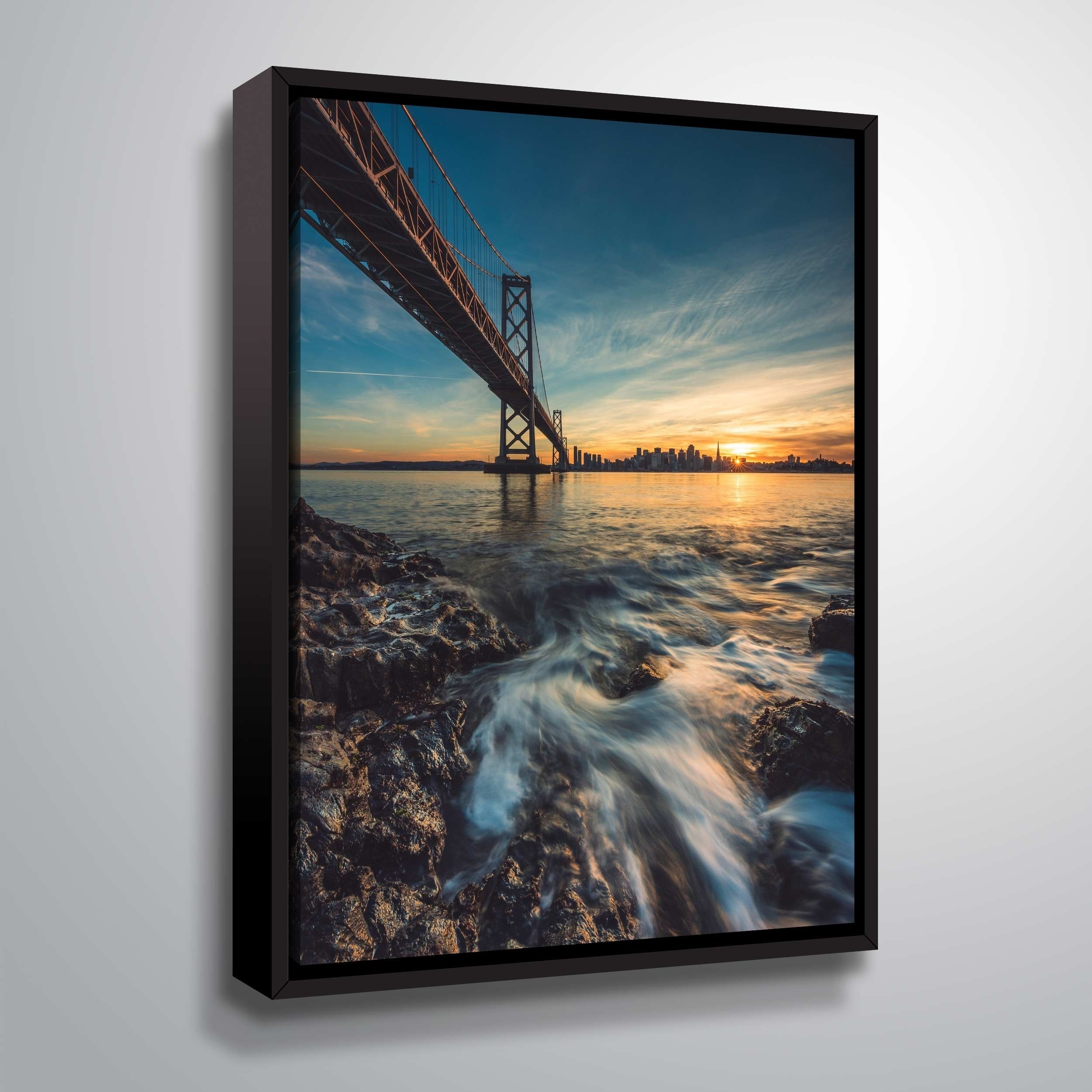 "ArtWall ""Down by the Water II"" Gallery Wrapped Floater-framed Canvas"