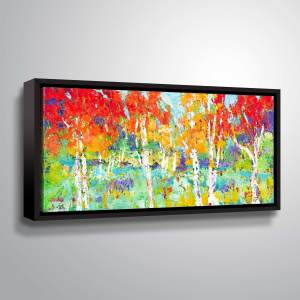 "ArtWall ""Autumn Reflections"" Gallery Wrapped Floater-framed Canvas"