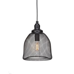 Toltec 1-light Pendant In Matte Black Finish with Clear LED Antique Edison Bulb