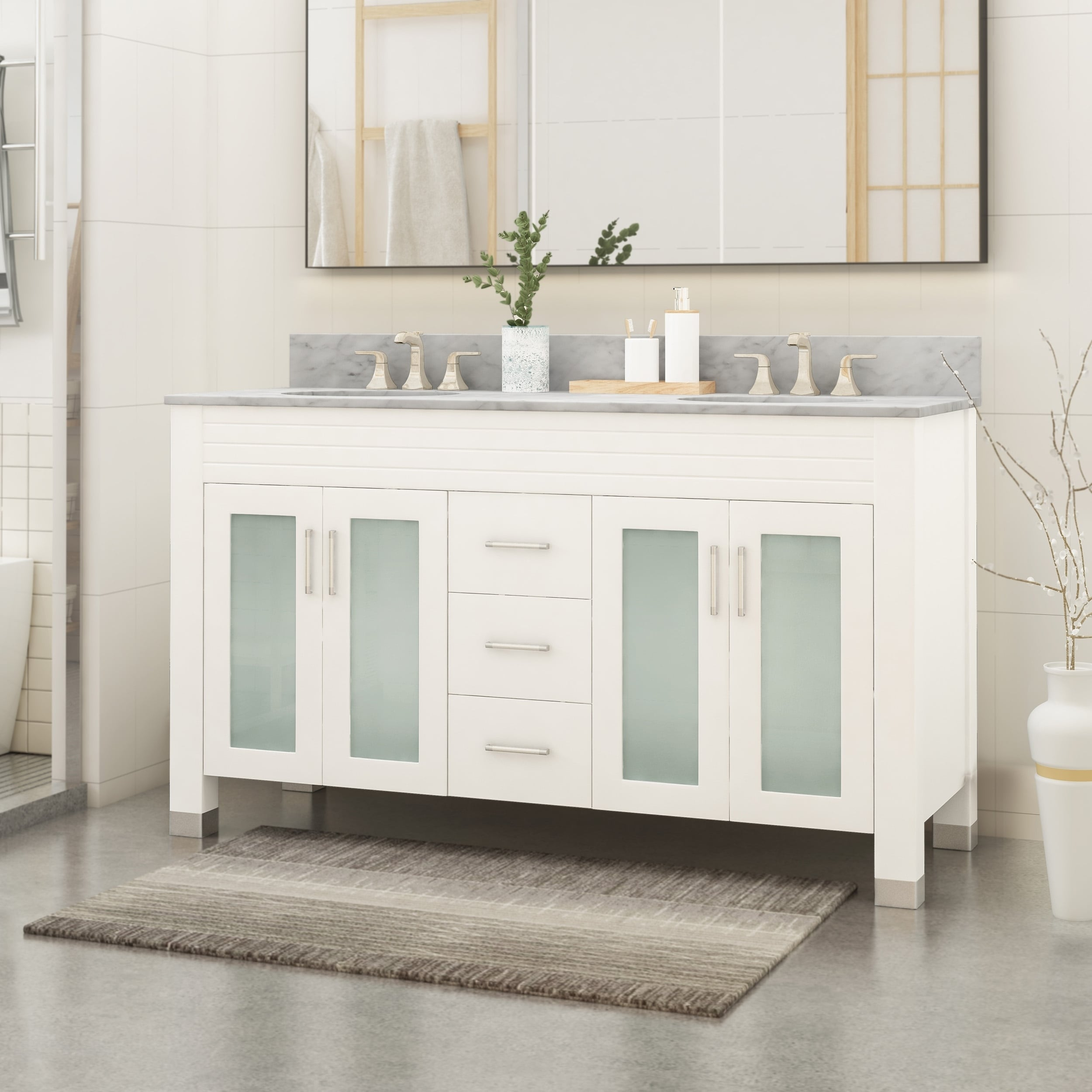 Shop Holdame 60 Wood Bathroom Vanity Counter Top Not Included By Christopher Knight Home Overstock 26063321