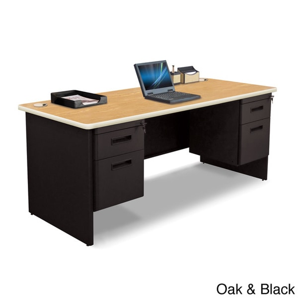 Marvel 72inch Double Pedestal Steel Desk  Free Shipping