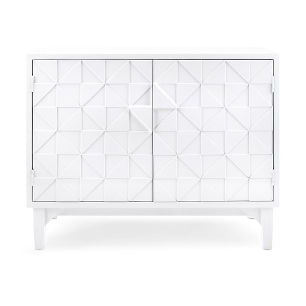 Shop Modern Style Wooden Console With Geometric Pattern