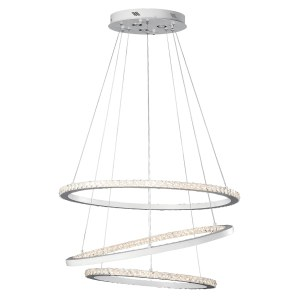 elan Allos Flat White Triple Ring Foyer Pendant