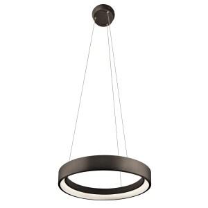 elan Fornello Sand Textured Black Single Ring Pendant