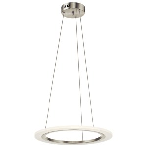 elan Hyvo Brushed Nickel Single Ring Pendant