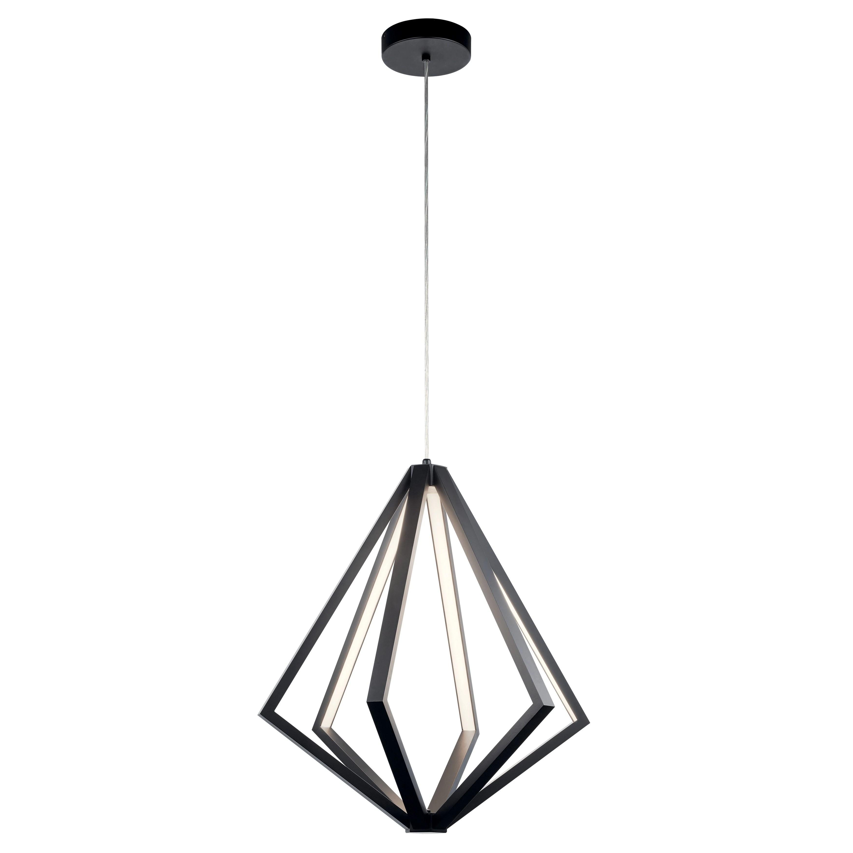 elan everest matte black 6 light chandelier
