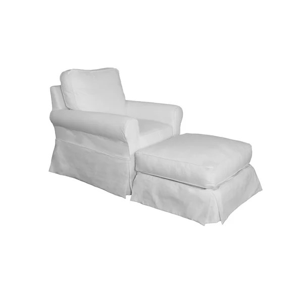 gray chair and ottoman slipcovers inexpensive patio lounge chairs shop sunset trading horizon box cushion slipcover set performance white