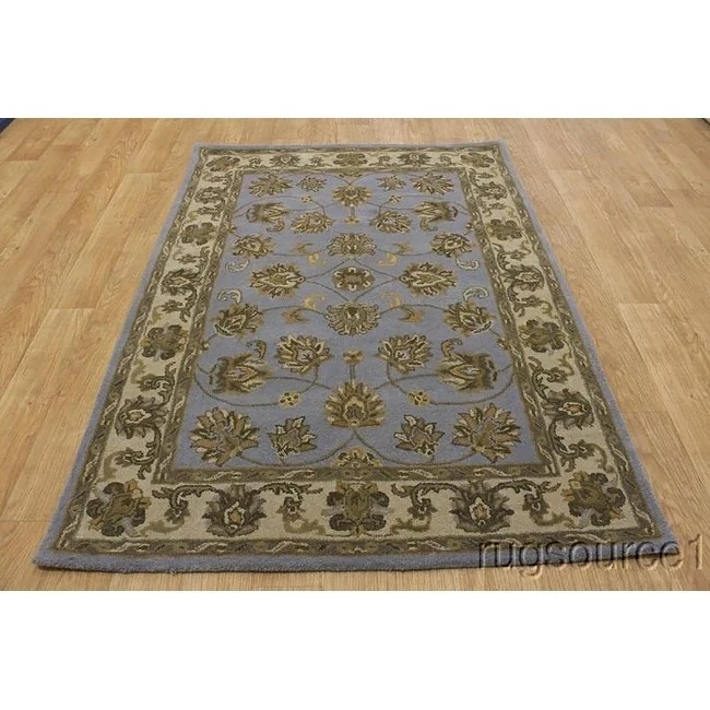 "Agra Nourison Hand Made Brand Oriental Floral Area Rug Blue - 7'0"" x 5'0"""