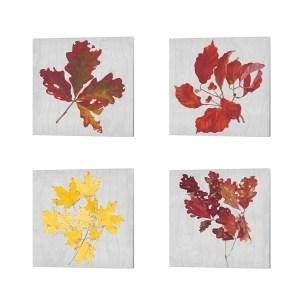 Dianne Miller 'Autumn Leaves B' Canvas Art (Set of 4)