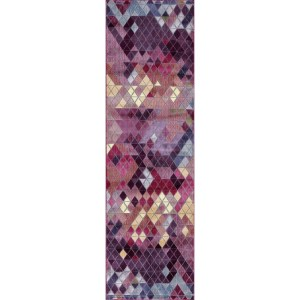 "Mod-Arte, Rhapsody Collection Transitional Style Runner Rug - 2'4"" x 7'10"""