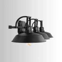 Shop Carbon Loft Jennie 3-light Matte Black Vanity Fixture ...