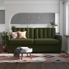 Queen Sleeper Sofa Memory Foam Mattress Extra Large Modern Sectional Sofas Shop Novogratz Brittany Certipur Us