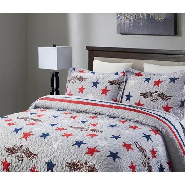 3 piece patriotic oversized king quilt