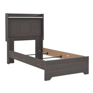 Annikus Twin Upholstered Panel Headboard - Grey