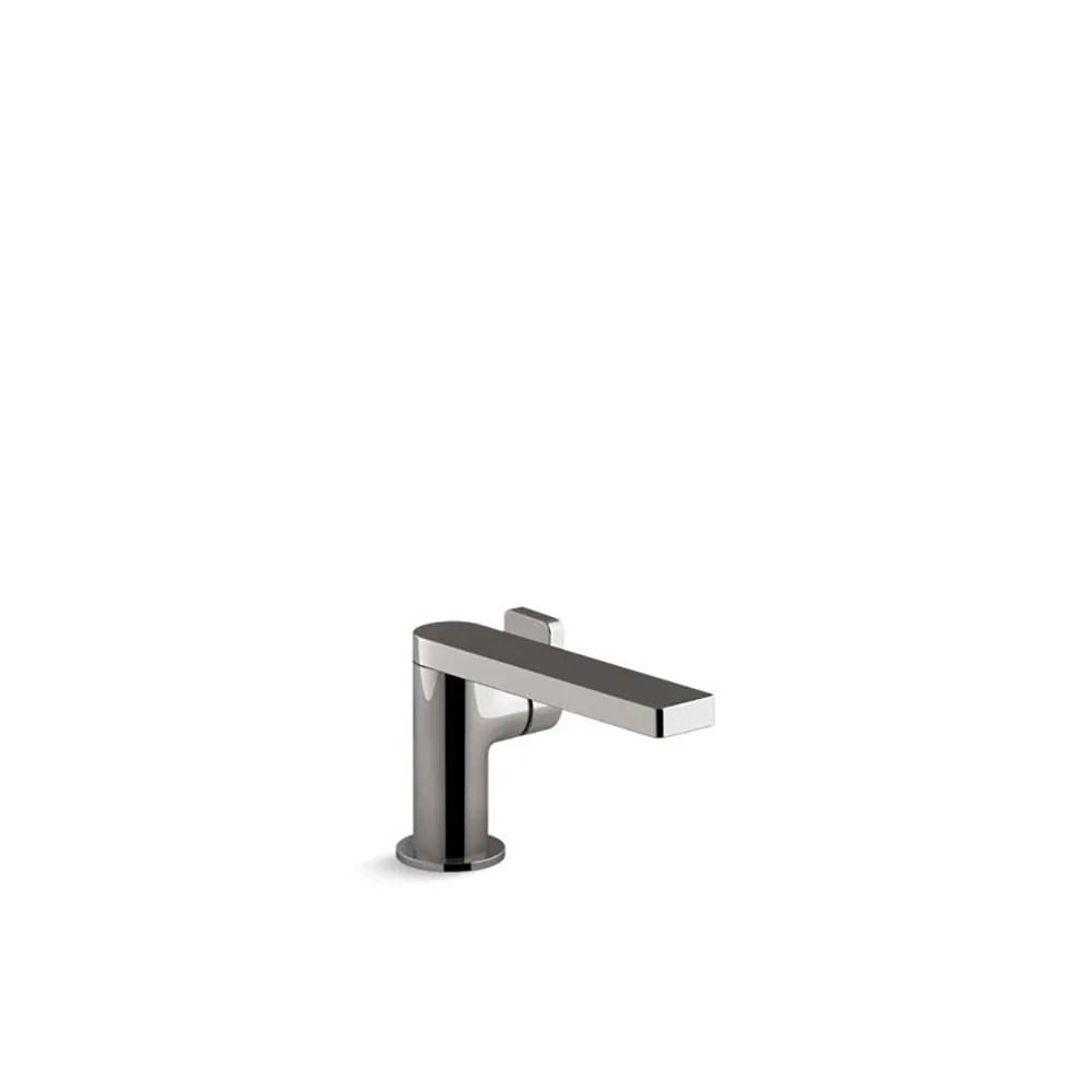 kohler composed single handle bathroom sink faucet with lever handle vibrant titanium