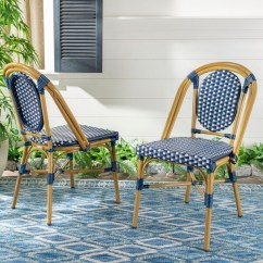 Outdoor French Bistro Chairs Luraco Pedicure Chair Shop Safavieh Living Lenda Navy White Set Of 2