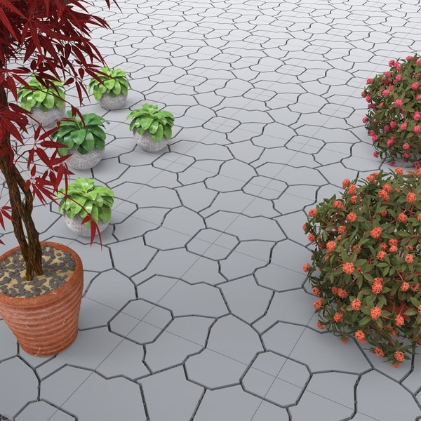 patio and deck tiles set of 6