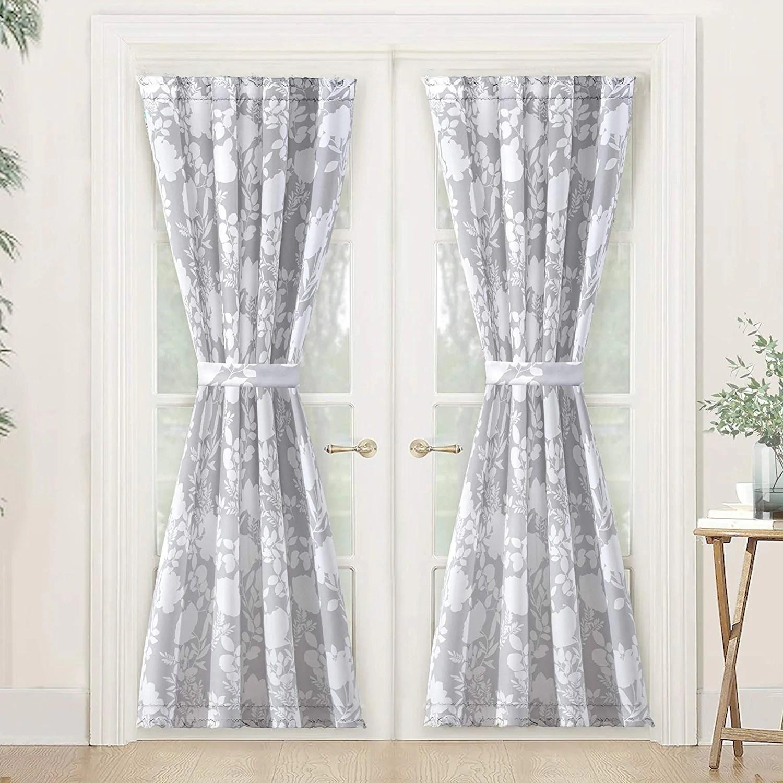 porch den nolana floral pattern room darkening french door curtain panel
