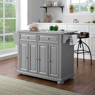 best place to buy kitchen island 33 sink granite islands online at overstock com our alexandria solid top in vintage grey