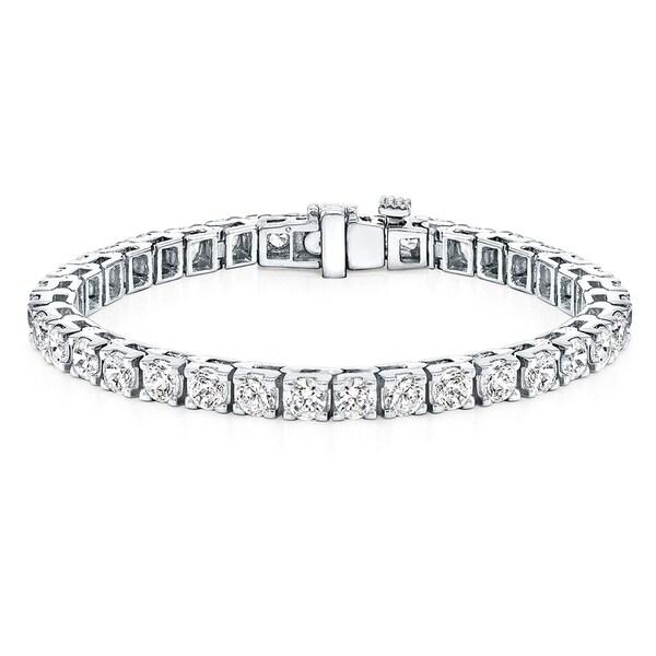 Shop Round 14ctw Lab Grown Diamond Tennis Bracelet 14k