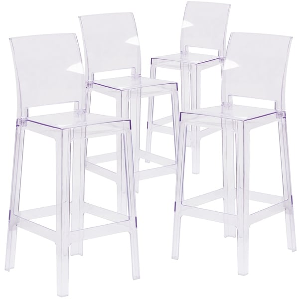 ghost bar chair step 2 shop square back stool set of 4 free shipping today overstock com 27085576