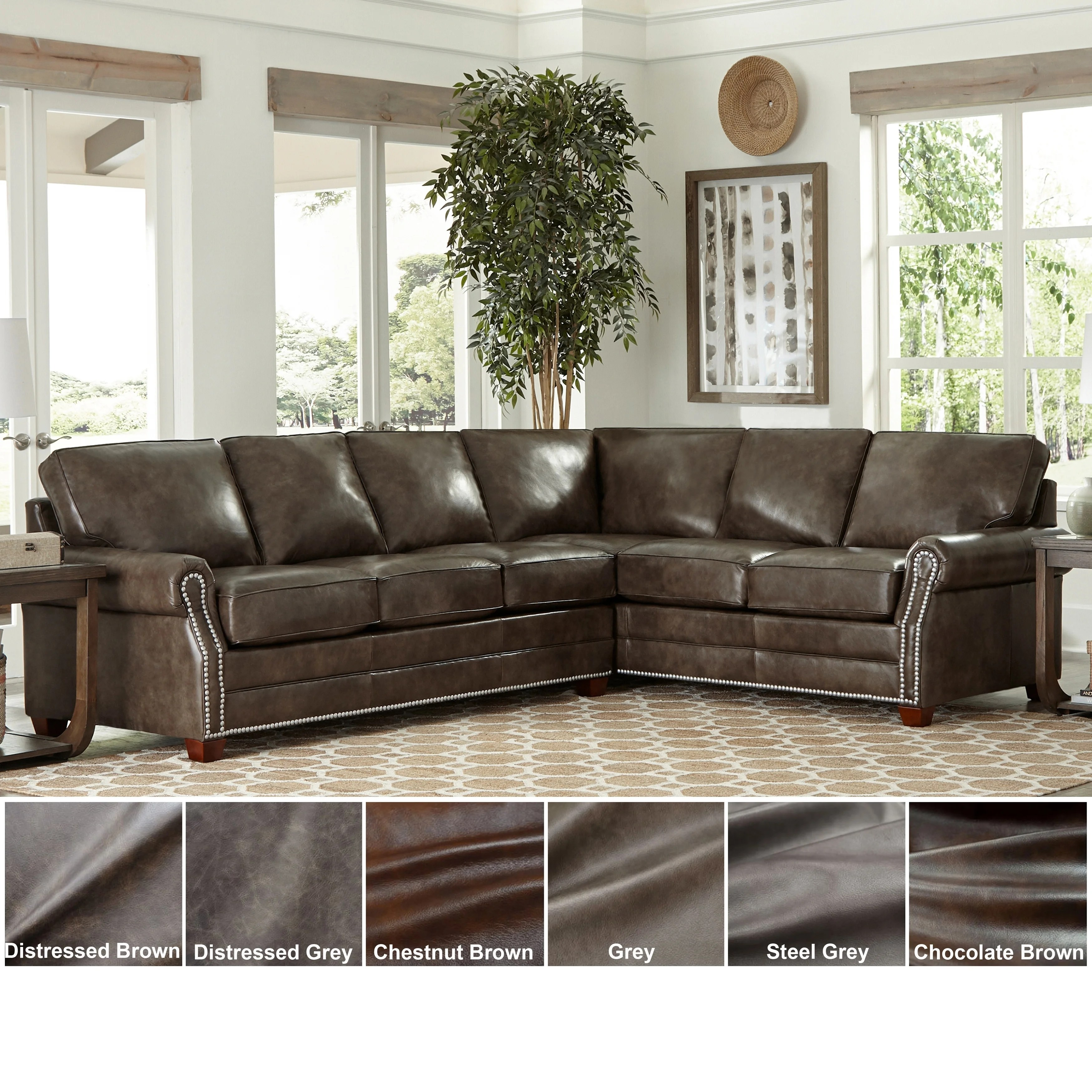 made in usa davis top grain leather sectional sofa bed sleeper